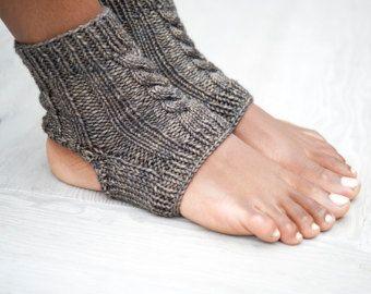 Yoga calcetines, tobilleras, Yoga calcetines, calcetines de pedicura de punto, Knit deslizador calcetines, zapatillas de mujer, calcetines Toeless, polainas de Yoga