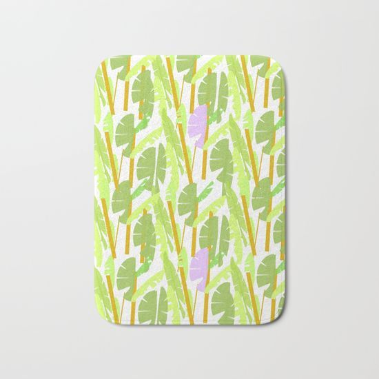 Tropical Plantation Bath Mat