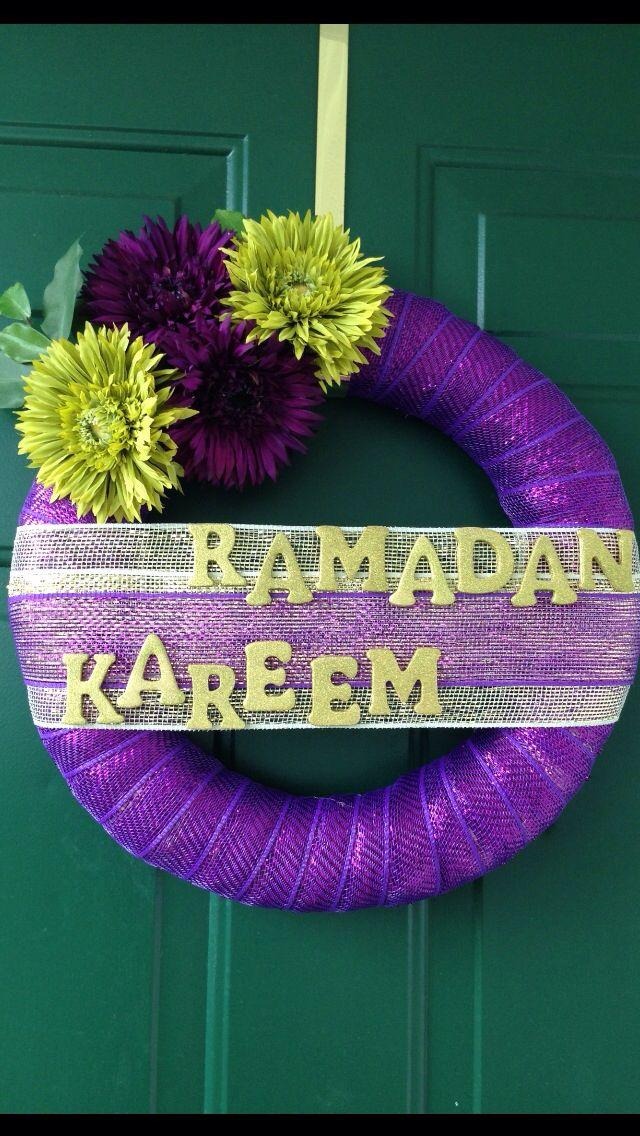 Ramadan Wreath, made by me  Ramadan Kareem. Taking orders now  contact me for details on Daliakmoharram@gmail.com