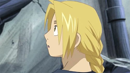 (gif) I forget what episode this is from but it cracks me up every time! Ed, Fullmetal Alchemist