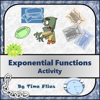 Zombies, cockroaches and bacteria! What more do you need :) If you want a project or activity that is differentiable, then you have found it. This activity gives the student choices, an avenue to be creative, a chance to learn cross-curricular content and of course an opportunity to learn about exponential functions!