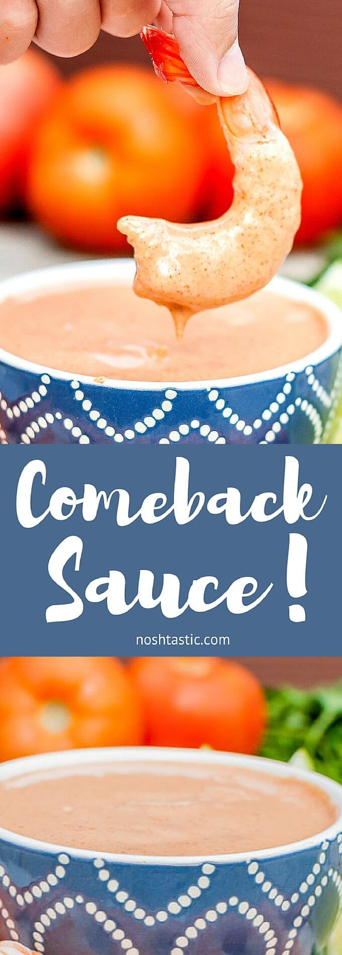Comeback Sauce, a Jackson, Mississippi original in the same family as Fry Sauce, Thousand Island, Remoulade Sauce and Cocktail Sauce, it's SO good you'll be back for more!! | Gluten Free | Dairy Free | Vegetarian