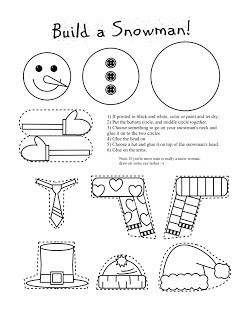 Send this Free build a snowman printable to your sponsored child along with photos of snowmen you build at your house this winter