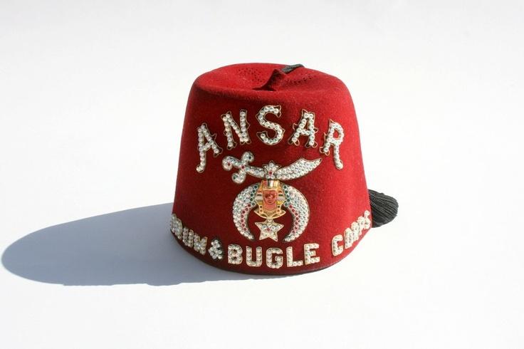 718: U.S. Masonic Shriner fez hat : Lot 0718