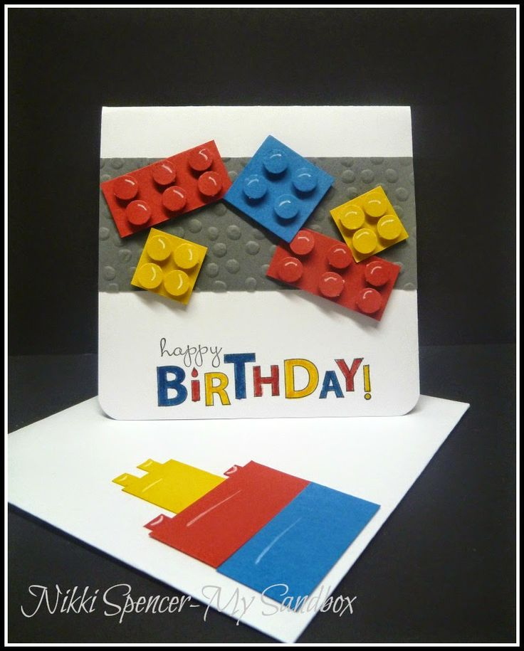 "Great kid's birthday card using SU punches, owl builder for the dots on the 3/4"" blocks."