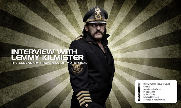 Revolutionart Rocks!  Interview with one of fathers of metal: Lemmy Kilmister from Motorhead. Join us  http://www.facebook.com/revolutionartmagazine