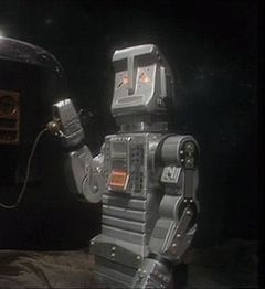Marvin from the BBC TV series Hitchhikers's Guide to the Galaxy.  I think you ought to know I'm feeling depressed.  Poor guy!