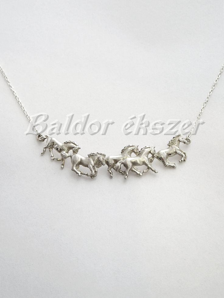 Silver necklace with stud farm by BaldorJewelry on Etsy