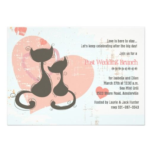 190 Best Cat Lovers Wedding Invitations Images On Pinterest