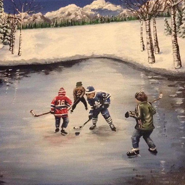 """13 Likes, 1 Comments - Art-iculate (@articulate.h) on Instagram: """"What's your favourite NHL team? - - - - - - - #nhl #hockey #team #sports #painting #art #instaart…"""""""