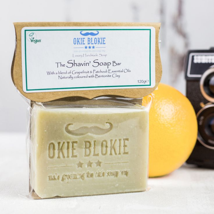 Men's Shaving Soap with Grapefruit and Patchouli (3.95 GBP) by TheOkieSoapySoapShop