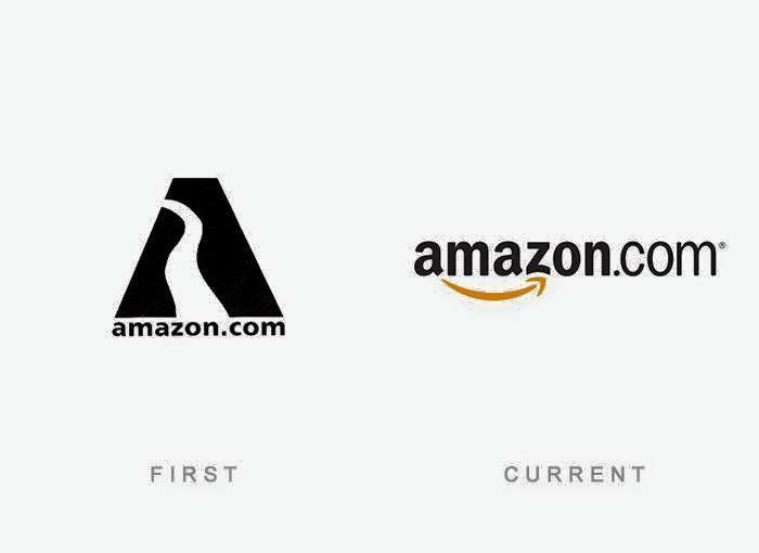 El primer y ultimo #logotipo de #Amazon hasta la fecha.