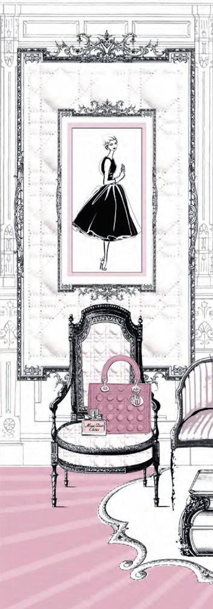~Dior | House of Beccaria. Via @houseofbeccaria. #Dior #illustrations