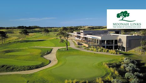 Our Deal - Play 18 holes at one of Australia's premier golf resorts, Moonah Links. Includes motorised cart hire   buckets of range balls for two! Play on a choice of two championship courses!
