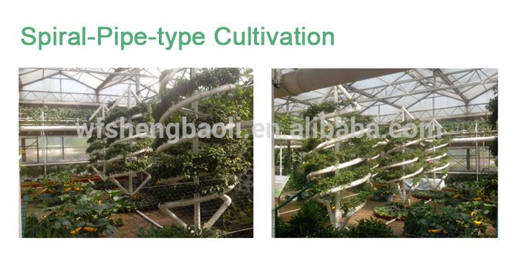 Horizontal and Vertical Greenhouse Complete Hydroponic System