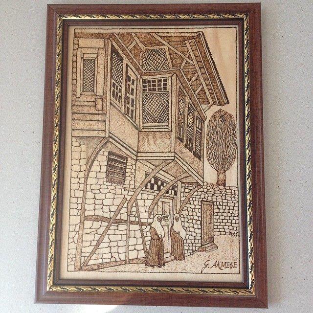 ahşap yakma osmanlı evleri