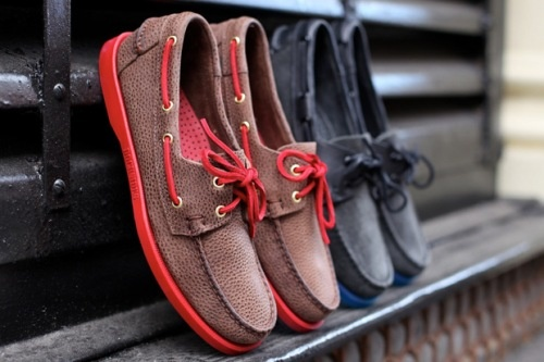 Buffalo Brown Leather and Roughout Grey Suede Sebago Docksides