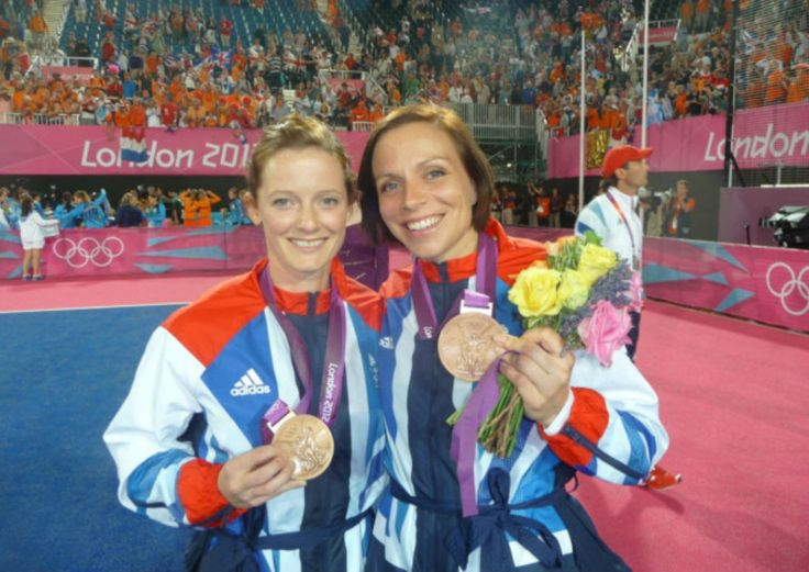 First married same-sex couple to jointly win medals for team GB hockey
