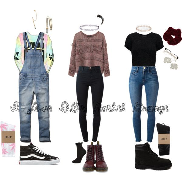 90s Grunge school outfits by stellaluna899 on Polyvore featuring Isabel Marant, MYVL, even&odd, J Brand, Frame Denim, Abercrombie & Fitch, HUF, Topshop, Timberland and Dr. Martens