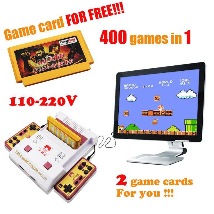 Hot sale Nostalgic original video games console player with free 400 games play card original TV game player