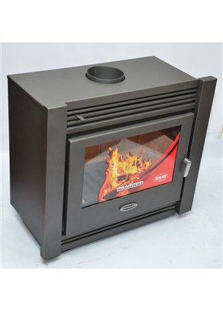 """IG 14000 EMPOTRAR EL QUEQUEN Ancho:82 cm-Alto: 73.5 cm.-Profundidad: 43.5cm.-Boca de carga: 55 x 32 cm.-Potencia 14000 Kcal/h.-Salida superior de 6 """"-Leños de 60 cm de largo-Ambiente a climatizar : 80 a 160m2.-peso Total: 120 kg.-2 derivadores de calor superior de 4"""" -Material refractario en piso, laterales y fondo-Vidrio vitrocerámico Schott Robax resistente a altas temperaturas de 4 mm de espesor.-Color: gris"""