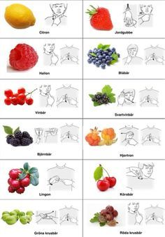 Tecken som stöd: Frukt och bär