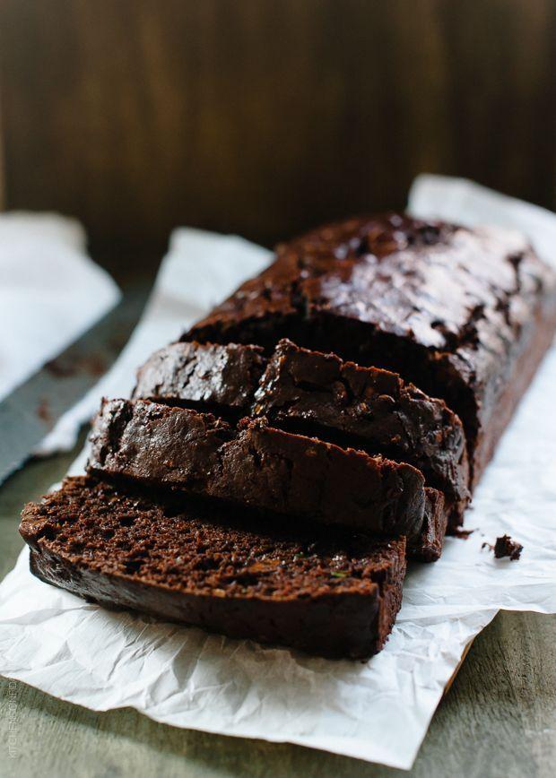 Double Dark Chocolate Zucchini Bread #chocolate #zucchini #bread