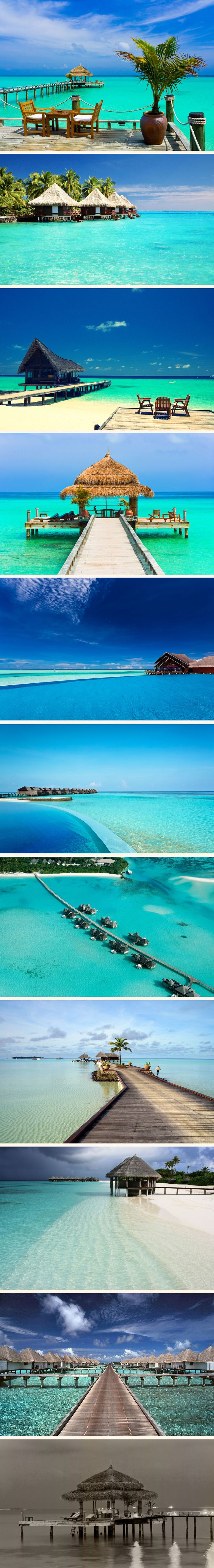 Maldives ☼ So expensive but one of these days I will go just to relax in the sun with the white beaches and clear blue sea :P