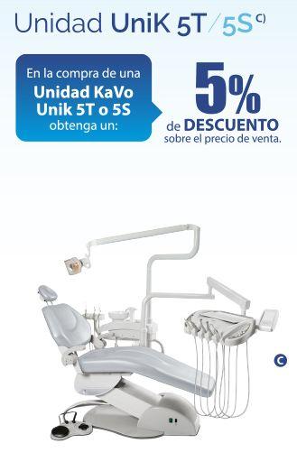 Obtenga un 5% de #descuento en la #UnidadDental Unik 5T / 5S