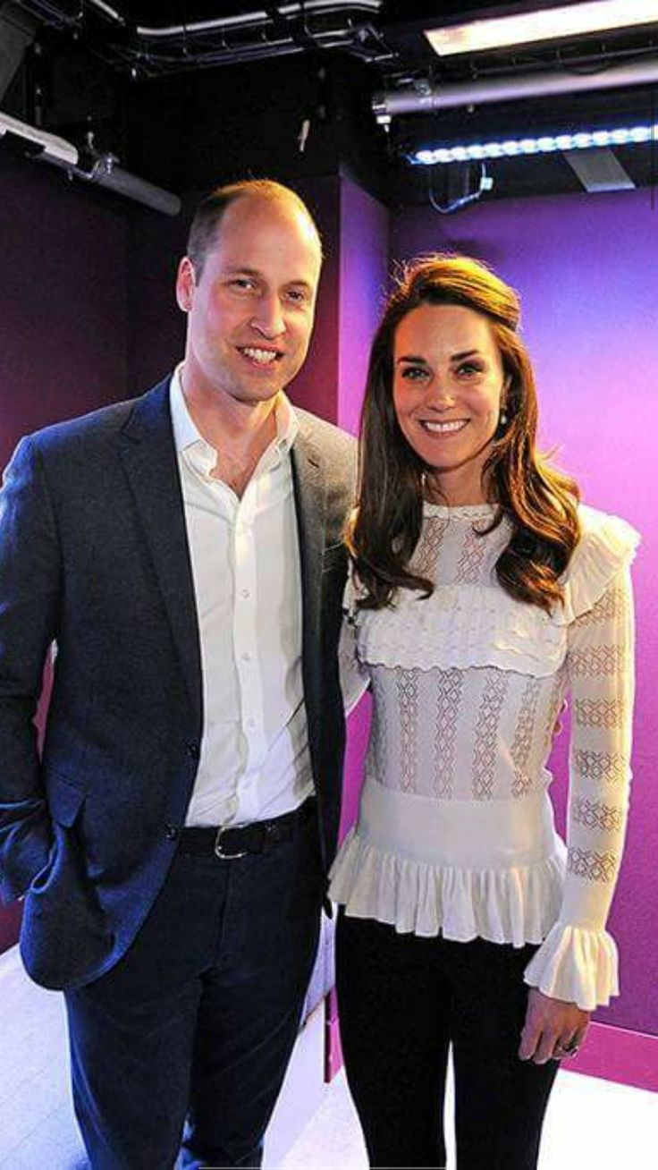 April 22-17 Kate and William made an unannounced visit to BBC Radio 1 today on behalf of their Heads Together initiative. Kate wore the Cypre Pointelle Frill Top by Temperley London from the label's Autumn 2017 collection.
