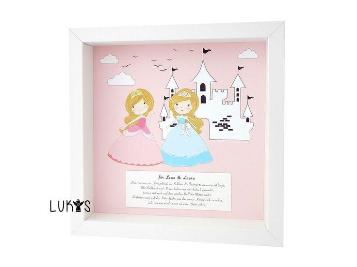Schutzengel bild f r zwillinge und geschwister geschenk for Kinderzimmer zwillinge