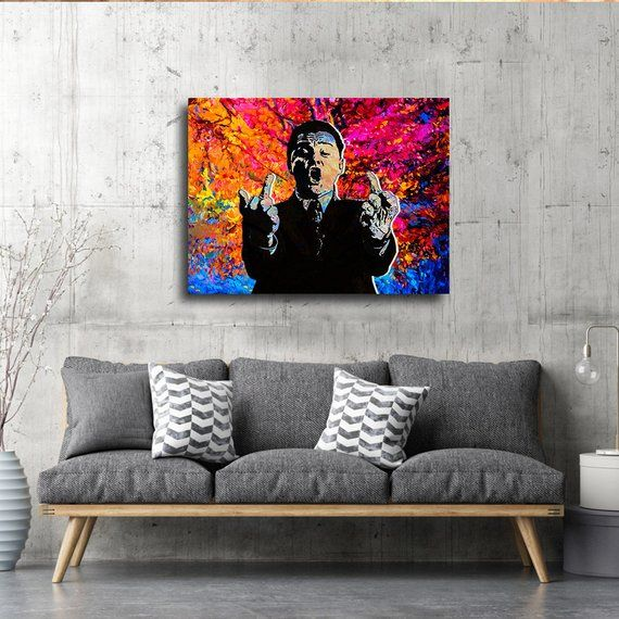 Phone Flip Off Wolf Of Wall Street Canvas Wall Art Modern Etsy In 2020 Wall Street Art Wall Canvas Canvas Wall Art