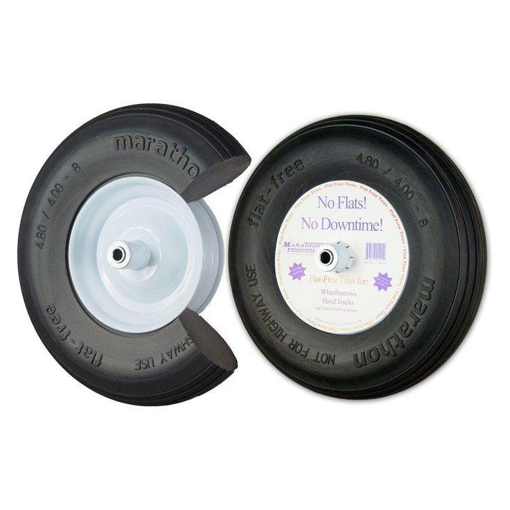 Marathon Industries 16 in. Ribbed Flat Free Wheelbarrow Tire