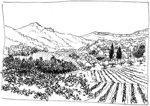 Comment dessiner un paysage - exemple de croquis pas a pas