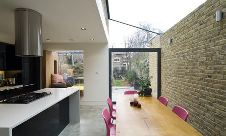 I would love to do this side return extension.....lots of glass and light and a sociable space to eat, drink and put the world to rights!