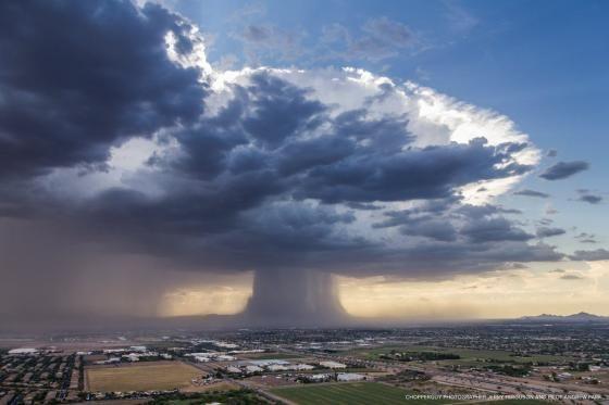 アリゾナ州で撮影されたゲリラ豪雨   2ちゃんねるスレッドまとめブログ - アルファルファモザイク