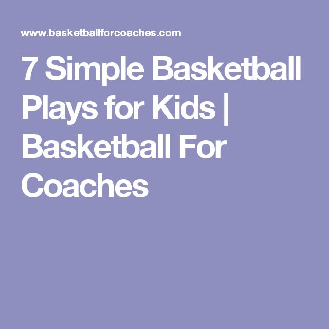 7 Simple Basketball Plays for Kids | Basketball For Coaches