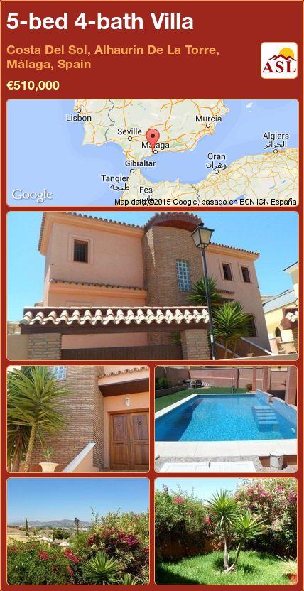 5-bed 4-bath Villa in Costa Del Sol, Alhaurín De La Torre, Málaga, Spain ►€510,000 #PropertyForSaleInSpain