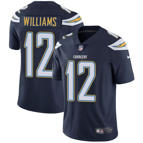 Nike San Diego Chargers #12 Mike Williams Navy Blue Team Color NFL Vapor Untouchable Limited Men's Stitched Jersey $25