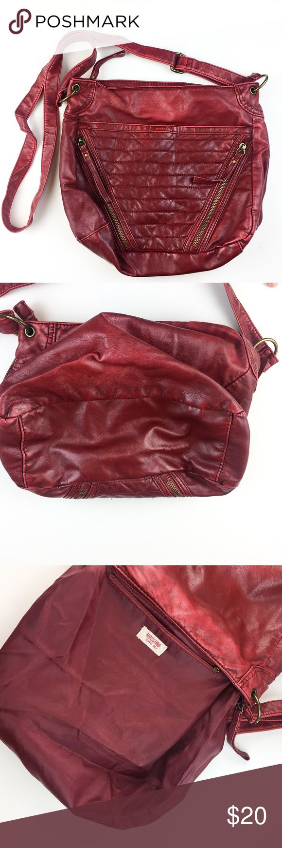 "Mossimo Red Crossbody Bag Boho Chic Small Bag Mossimo Red Crossbody Bag  Measurements: Length - 13"" laying flat Height - 10"" Shoulder strap to top of bag at longest length - 23""   Great condition, inside and out! HAPPY POSHING! Mossimo Supply Co. Bags Crossbody Bags"