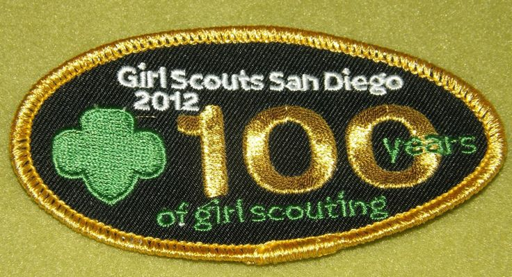 girl scouts san diego 100th anniversary patch thank you