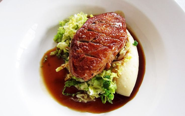 Roast Norfolk Gressingham Duck Breast Fried Savoy Cabbage Fondant Potatoes with Thyme Red Wine Reduction. A Guest Recipe by Thefoodsnobuk. Fabulous Norfolk