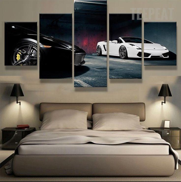 Dream Garage - 5 Piece Canvas Painting-Canvas-TEEPEAT  #prints #printable #painting #empireprints #teepeat