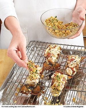 Stuffed Lobster Tails | Cuisine at home eRecipes