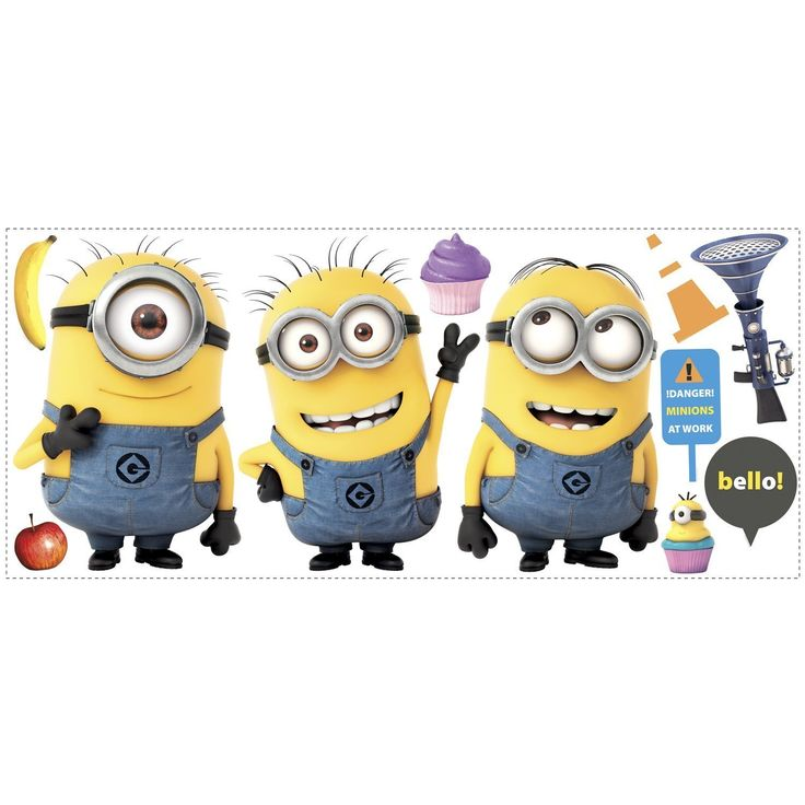 Roommates Rmk2081Gm Despicable Me 2 Minions Giant Peel And Stick Giant Wall Decals: Amazon.es: Bebé