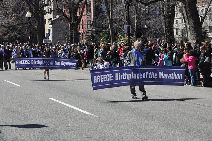 """The idea of the """"marathon"""" comes from the mythical run of Pheidippides from Marathon to Athens."""