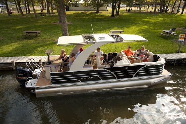 Redefining Luxury Pontoon Boats with Automated Shade ~ SureShade Blog