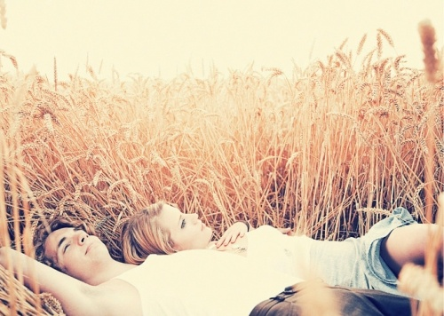 lying in the field together #KoboContest