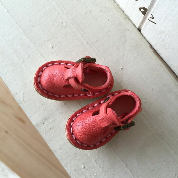 Real Leather:doll/ shoes/pink