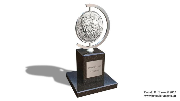 Tony Award 3D Model/Rendering - Created by Don Cheke in TurboCAD Pro Platinum v20 | #CAD #Model #3D #Rendering
